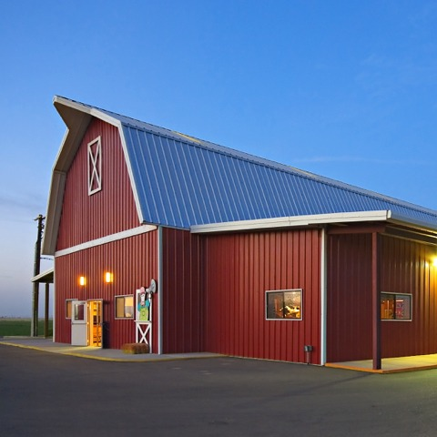 Shamrock Farms metal barn | Bunger Steel