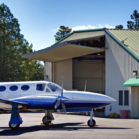 steel aircraft hangar | Bunger Steel