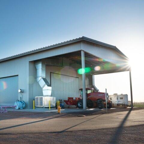 Case Tractor Facility custom metal building | Bunger Steel
