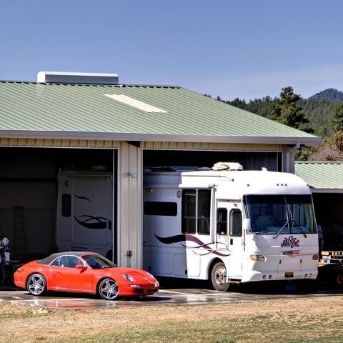 custom metal garage | Bunger Steel