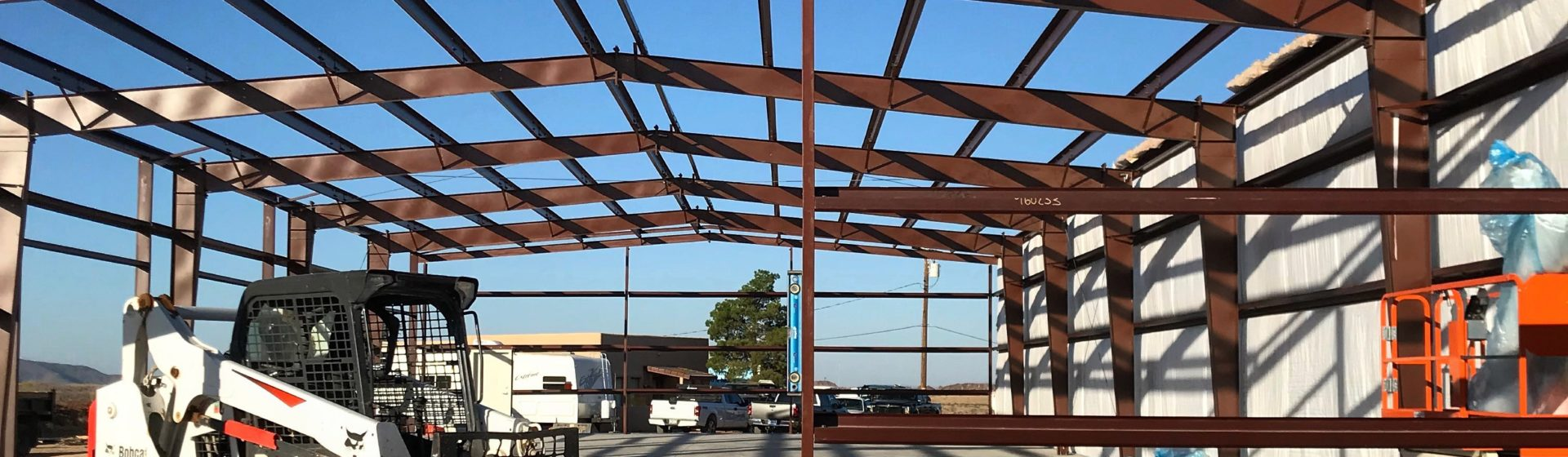 Metal building frame   Bunger Steel