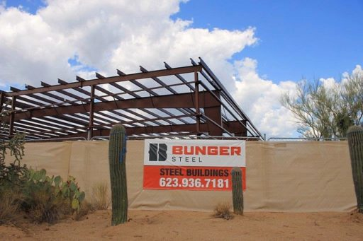 Bunger Steel Banner at job site